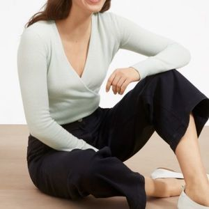 Everlane wrap sweater